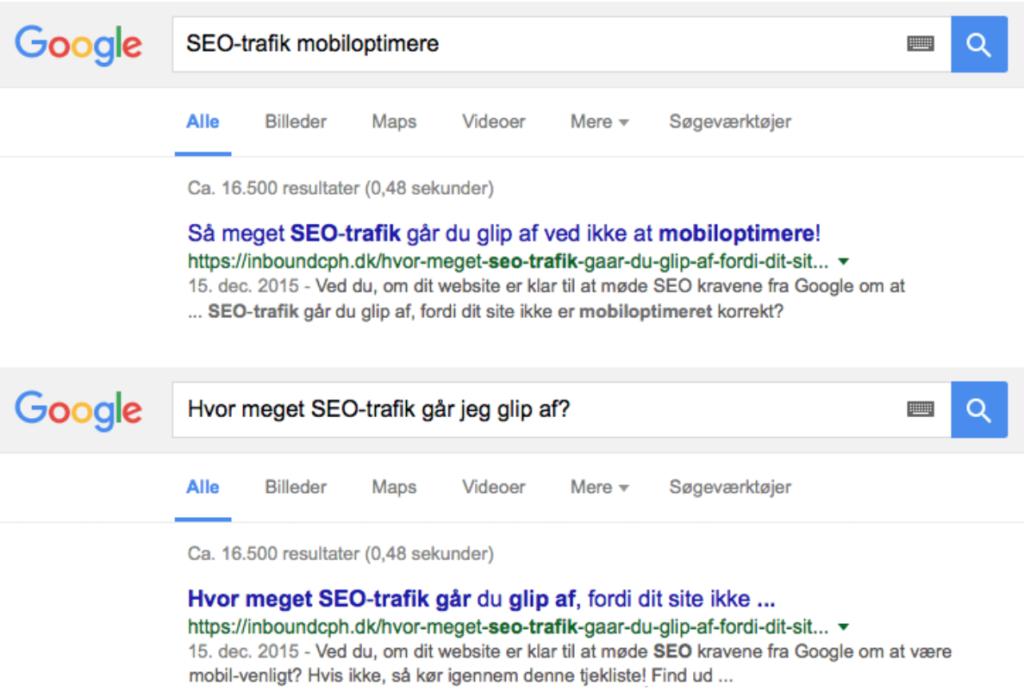 Title Tag på Google