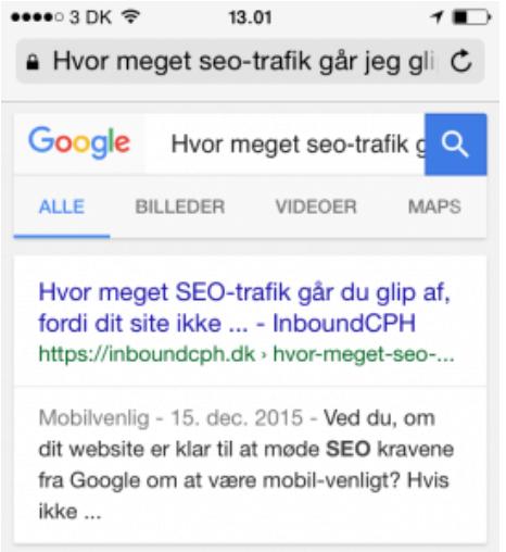 Title Tag på mobile enheder